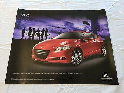 "2011 Honda CR-Z Accessories Promotional Dealership Poster 20""×16"" USA"
