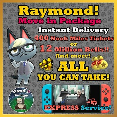 Animal Crossing New Horizons Raymond ✨ FREE Shopping Spree ✨ EXPRESS Delivery