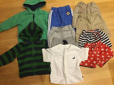 Boys Clothes Bundle 18-24 Months 1.5-2 Years Shorts Hoody Next Converse Ralph