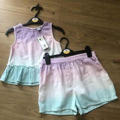 Tu Girls Summer Ambre Top And Shorts Set - Age 9 Years BNWT