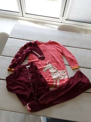 Girls M&S Clothes Next Bundle. Age 3-4 Dress Tights Cardie