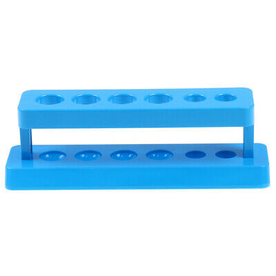Plastic Laboratory Test Tube Rack 6 Holes Holder Support Burette Stand Shelf 9H