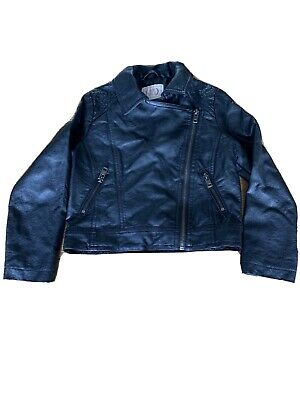 M&S Leather Look Bomber Jacket 5-6 Years