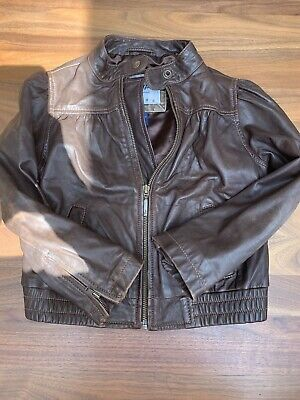 Girls  Real Leather Jacket Age 4-7