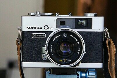 Konica C35 Compact Rangefinder with original case and cap