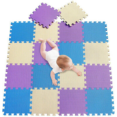 18PCS Soft EVA Foam Mat For Baby Play Floor Jigsaws Puzzle Portable Foldable