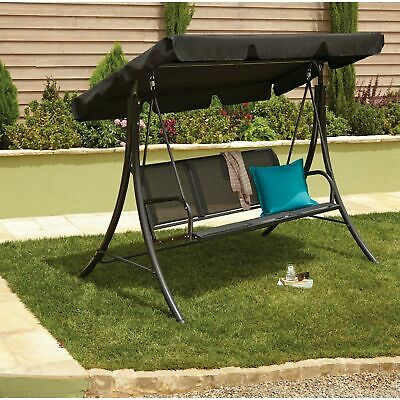 Outdoor Swing Chair 3 Seater Patio Hammock Cushion Seat Bed Garden Lime Canopy