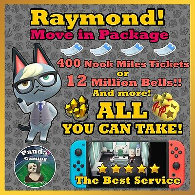 Animal Crossing New Horizons Raymond ✨ FREE 12 Mil Bells or 400 NMT ✨ BEST Deal