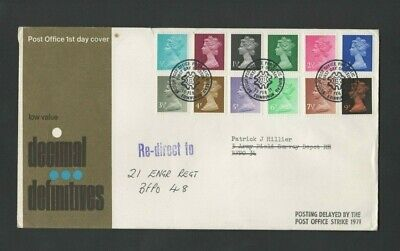 GB Stamps:1971 First Day Cover - Decimal Definitives  - ½ p to 9p - 12 values
