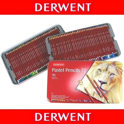 New! 72 Brilliant Colours! Derwent PASTEL Pencils in Tin Set Art Colouring Books