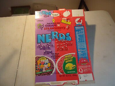 Ralston Nerds original cereal box dated 1985 advertising