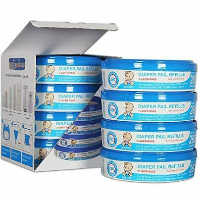 Upgraded Thicken, Diaper Genie Refill Bags, Compatible with Genie...
