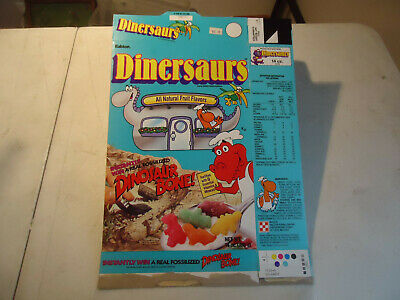 Ralston Dinersaurs  original cereal box dated 1988 advertising dinosaur