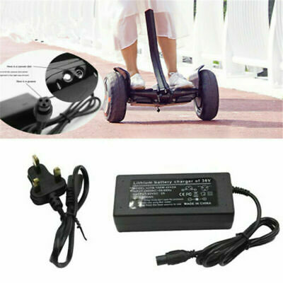 UK Plug Charger Power Adapter For Segway/Swegway/Hoverboard Balance Board 42V 2A