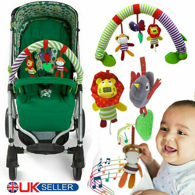 Baby Crib Stroller Cot Buggy Pram Car Seat Animal Hanging Rattles Kid Toy UK