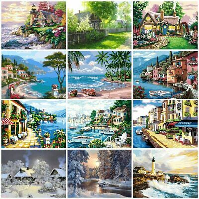 DIY Oil Acrylic Painting Kit Paint By Numbers Adult Children Beginners Frameless