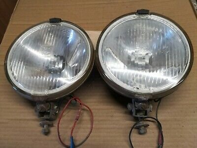 Two 7 inch Halogen spot lamps , metal backed , classic vintage retro