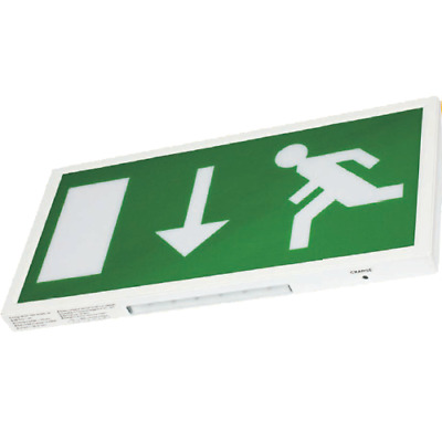 PISCES Slim LED Emergency Exit Sign IP20. LED Maintained