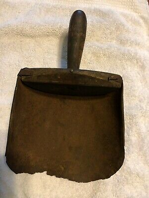 """primitive antique Wood And Metal Scoop Hand Made 11""""-7""""-4"""""""