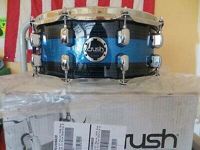 """NEW CRUSH 14"""" X 6"""" SUBLIME ST MAPLE SNARE BLUE CRUSH LACQUER !  2 available"""