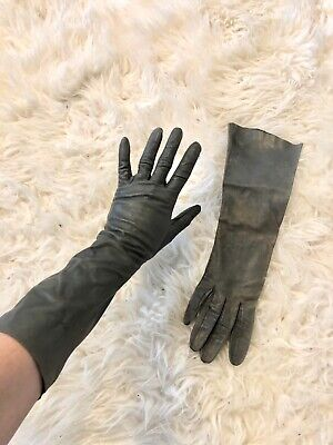 Leather Gloves Women's Leather Driving Fashion Gloves Grey