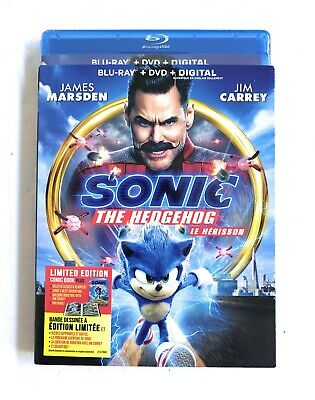 Sonic the Hedgehog Movie Blu-ray + DVD + DIGITAL 2020 Jim Carrey NEW SEALED