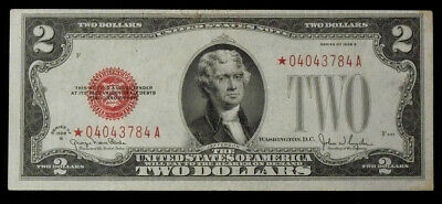1928-G STAR NOTE $2 United States Note, Solid VF & Crisp Paper