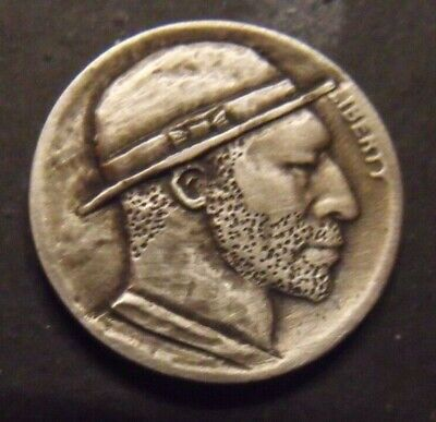 Hand Carved  Hobo nickel  #18  unsigned