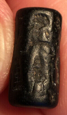 Ancient BABYLONIAN CYLINDER SEAL = King + Supplicants