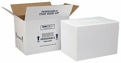 "Polar Tech 209C Thermo Chill Insulated Carton w/ Foam Shipper, Small, 8"" Length"