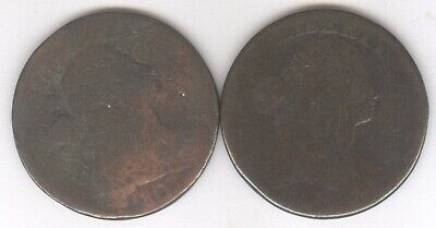 Lot of 2 - Draped Bust Large Cents + 1803 & worn date + No Reserve!
