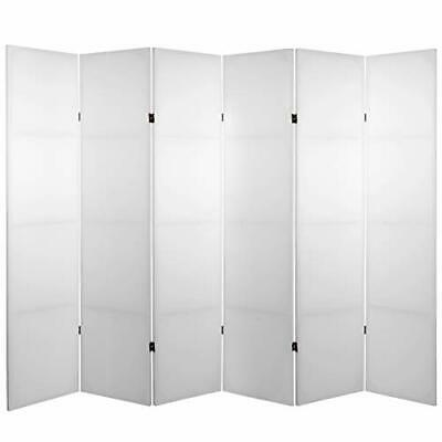 Oriental Furniture Plain Office Partition Low Best Room Divider, 6 Panel White