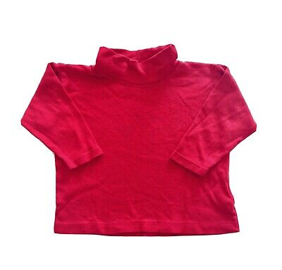 Mark & Spencer Toddler Baby Girl Boy Red Unisex Polo Neck Top 12-18 Months