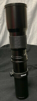 BOWER f=500mm 1:8 No. 313662 Telephoto Lens for Camera Pre-Owned Drawstring Case