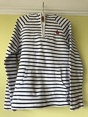 Girls Navy Stripe Nautical Hoodie Age 9 Perfect For Summer/ Chilly Nights/sail