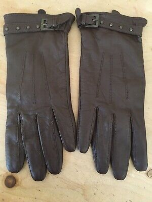 Leather Topshop Brown Gloves M/L Brand New