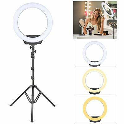 "16"" Ring Light Power Li Battery Stand SMD LED Dimmable 50W Adjustable 3200-5500K"