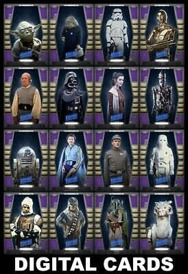 Topps Star Wars Card Trader 2020 BASE SERIES 2 [16 CARD PURPLE TIER 7 SET]