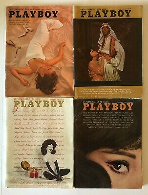 1964 Playboy Magazines  Lot Of (4) April, August, October, December