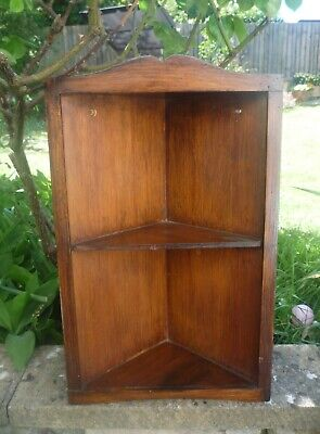 Vintage Wooden Corner Shelves Hanging Corner Display Shelf
