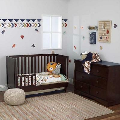 Nojo Aztec Forest 6-Pc Crib Bedding Set Include Extra Sheet/Changing Pad Cover
