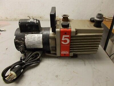 Edwards 5 E2M5 Rotary Vane Dual Stage Mechanical 1/2HP High Vacuum Pump