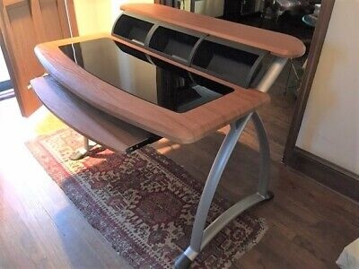Contemporary computer desk and adjustable chair set