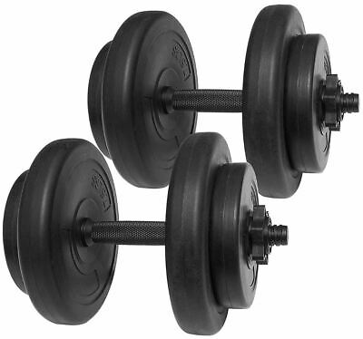 40 lbs Vinyl Bench Press Dumbbell Training Weight Lifting Biceps Handles Set