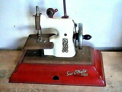 RARE Collectible Toy - Vintage 1950s Sew-O-Matic Child's Sewing Machine
