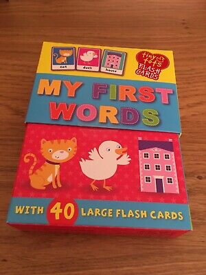 My First Words 40 Large Tiny Tots Flash Cards New