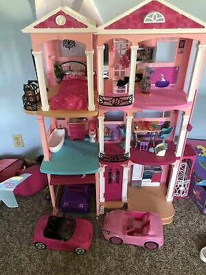 Barbie Dreamhouse Giant With 3 Cars