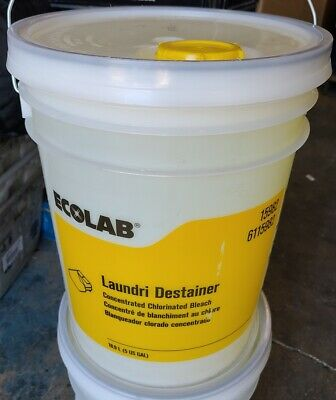 EcoLab Laundri Destainer Concentrated Chlorinated Bleach 5-Gallon Stain Remover