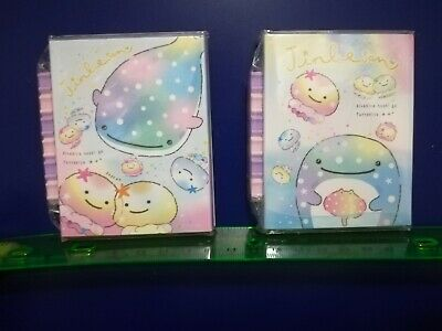 2 Kawaii San-x Jinbesan Foldable Memo Pad Booklet And Mini Erasers