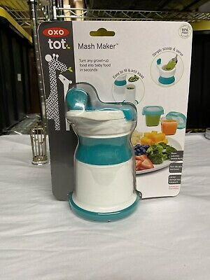 OXO Tot Mash Maker Baby Food Mill, Teal - Open Box